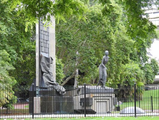 Denkmal María Eva Duarte de Perón, Evita genannt, in Buenos Aires