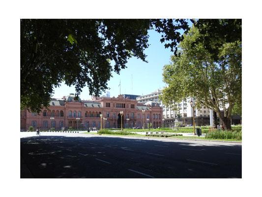 Casa Rosada, der Präsidentenpalast in Buenos Aires