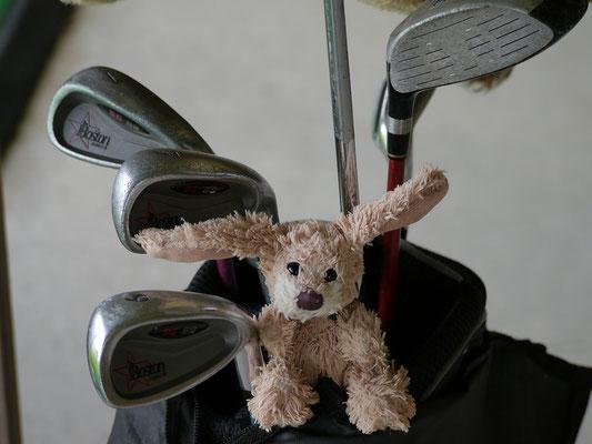 ich, Cäsar, mit meiner Golfausrüstung