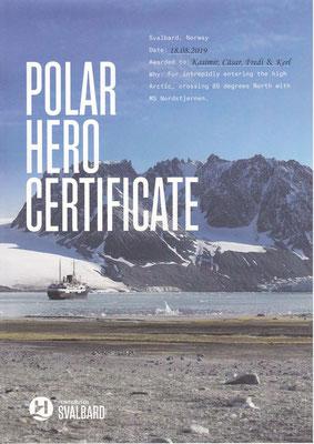 Jep, wir sind zertifizierte Polarhelden!