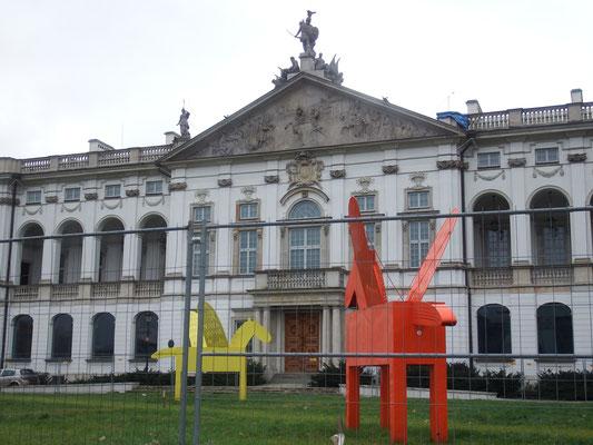 Pegasus-Figuren vor der Nationalbibliothek