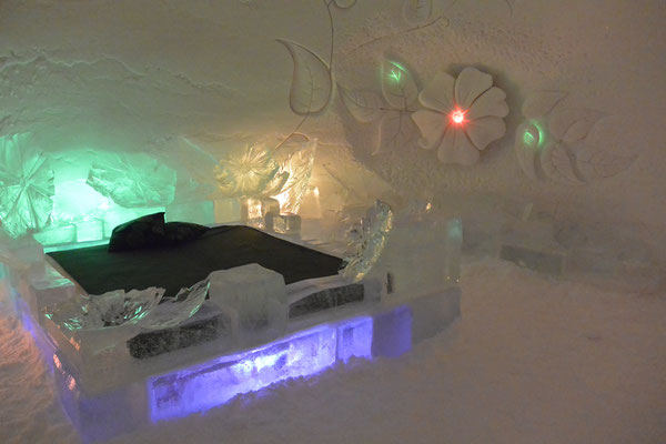 Schlafstatt in einer Snow Village - Suite