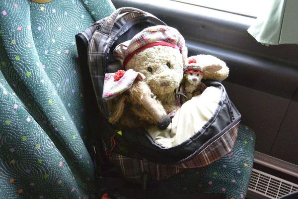 Kasimir, Cäsar und Fredi auf dem Weg nach Edinburgh, Schottland