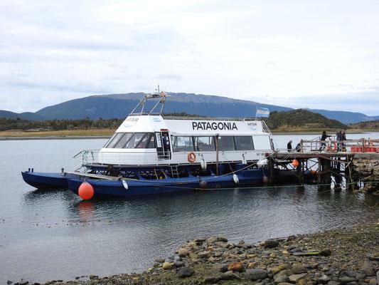 unser Boot für unseren Pinguin-Ausflug