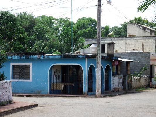 mexikanisches Dorf in Yucatán, Mexiko
