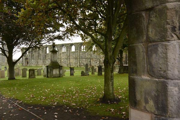 (Friedhofs) Gelände der St. Andrews Cathedral, Schottland