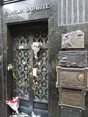 die Grabstätte Evita Peróns