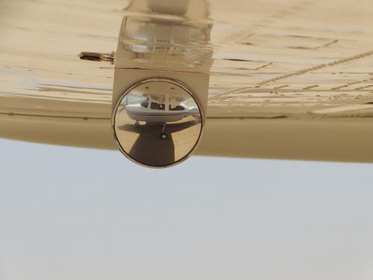 unser Flugzeug beim Start