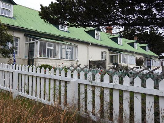 typisch britische Häuser auf den Falklands