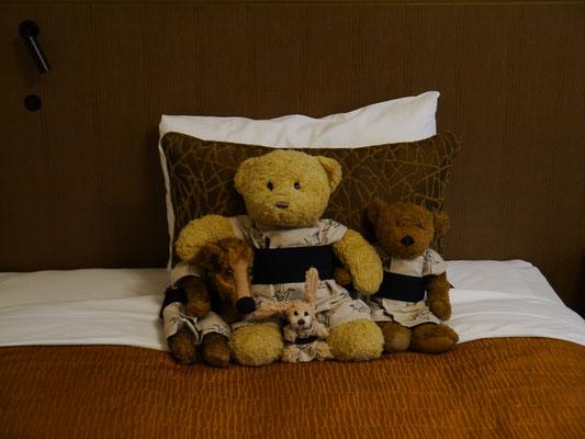 unser traditionelles Hotelbett-Foto