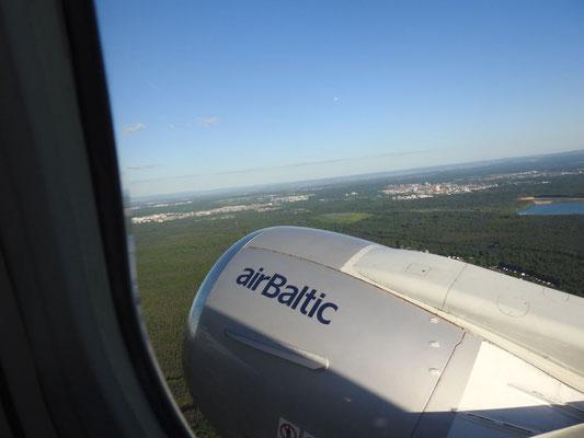 air baltic bringt uns sicher nach Riga, Lettland