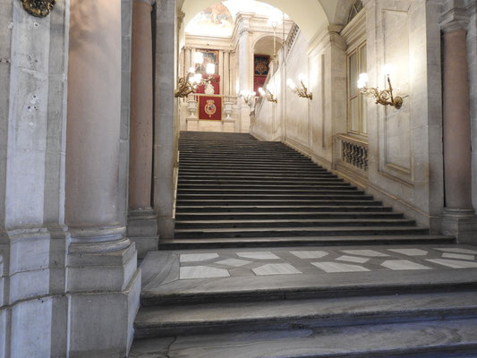 Palacio Real, Madrid, Treppenaufgang