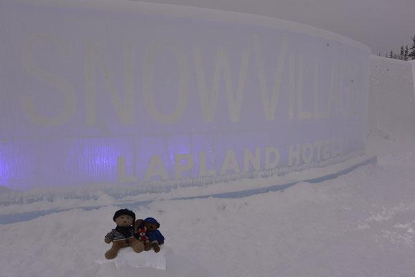 Wir - Kasimir, Cäsar, Fredi und Kerl - im Snow Village.