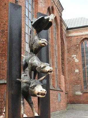Da staunt ihr, die Brēmenes pilsētas muzikanti in Riga.