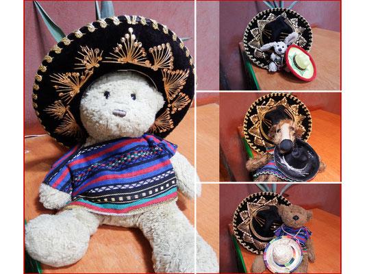 Passende Sombreros für uns alle - Kasimir, Cäsar, Fredi und Kerl