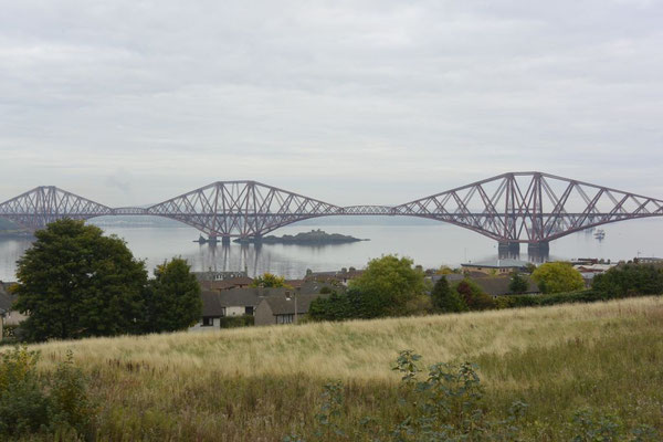 auf dem Weg nach St. Andrews: Firth of Forth Railway Bridge
