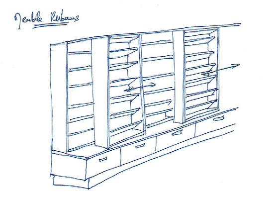 Dessin de mobilier d'agencement spécialisé