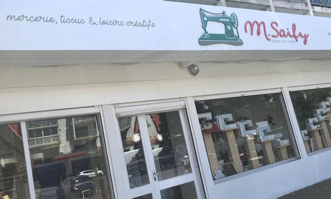 Façade du magasin M. Saify relookée
