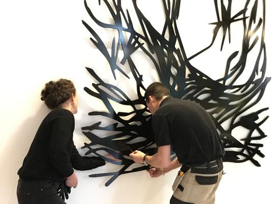 Installation d'un Buisson ardent à Reims