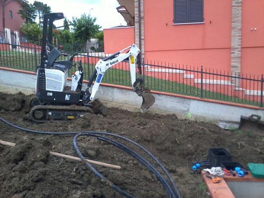 Installazione di linea per irrigatori dinamici