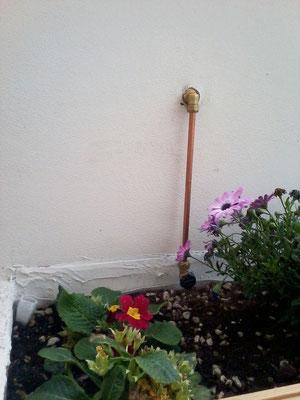 Irrigazione in rame su attico