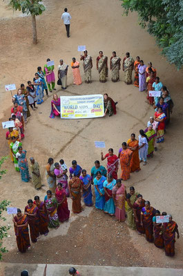 Celebrating the Wold Aids Day with SHG women to create an awareness and understanding.