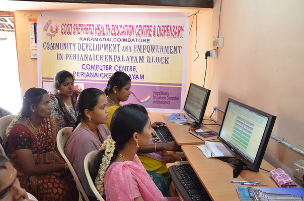 In the Computer Centre the women learn how to work with various Computer Programmes.