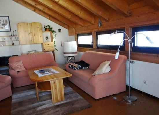 Offener Wohnbereich in der Ferienwohnung