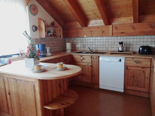 Küche der Ferienwohnung Barth