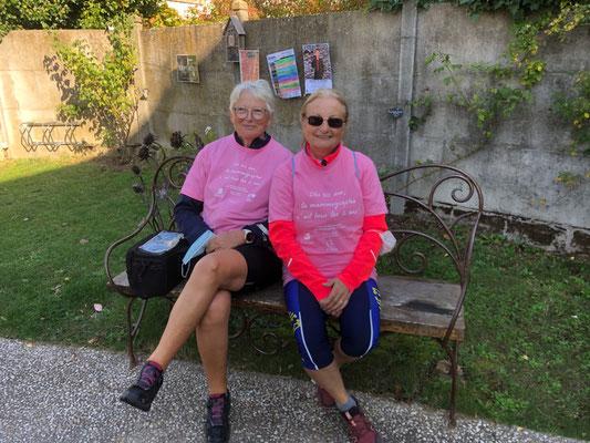 Suzanne et Chantal pour octobre rose