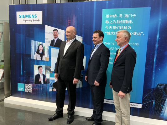 Professor Schellhase and Mr. Bopp together with Mr. Lukas Funke (CEO of DBEST (Beijing))