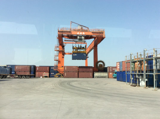 Gantry crane when shunting a container - it is used for loading operation of the trains.