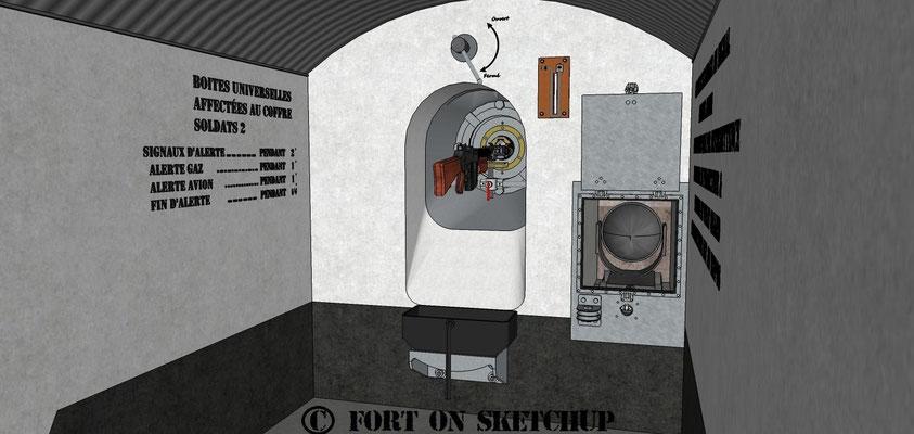 Equipement d'un coffre flanquant muni de son FM et de son phare
