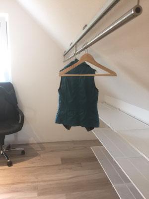 Fahrbares Kleiderstangensystem, volle Ausnutzung der Tiefe