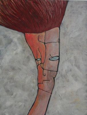 L'artiste 2010 Acrylique sur toile 116 x 89cm
