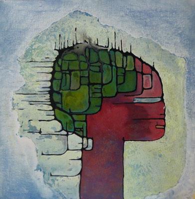 La coléreuse 2012 Acrylique sur toile 100 x 100cm