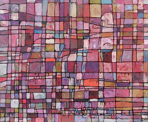 Parcelle 3  2009 Acrylique sur toile 54 x 73 cm