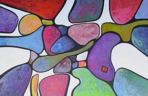 Ballons  2015  Acrylique sur toile 130 x 195cm