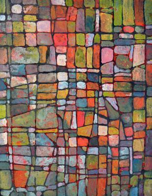 Parcelle 2  2009 Acrylique sur toile 65 x 50cm
