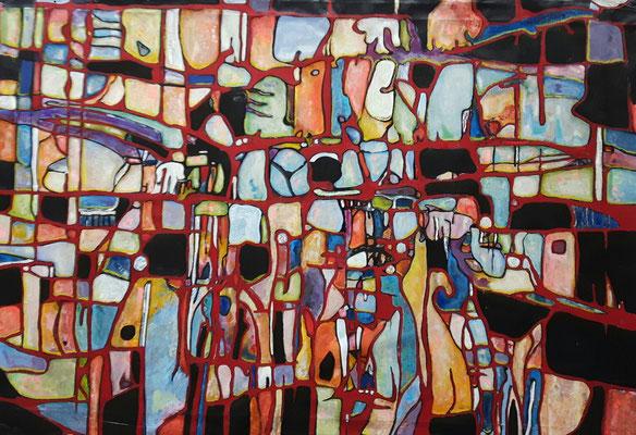 Effervescence 2017 Acrylique sur toile 116 x 146cm