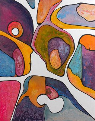 Rondeurs 2014Acrylique sur toile 146x114