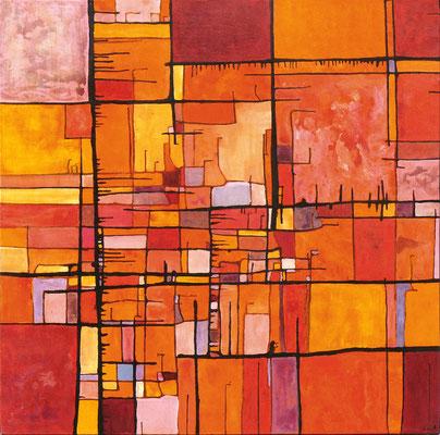 NKY11 Acrylique sur toile 100 x 100cm