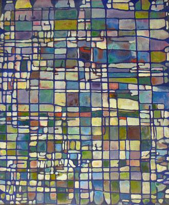 Parcelle 5  2009 Acrylique sur toile 65 x 54cm