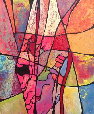 La fée carabosse 2013 Acrylique sur toile  65 x 50cm
