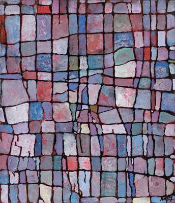 Parcelle 1  2009 Acrylique sur toile 50 x 65cm