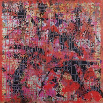 Foulard 2009 Acrylique sur toile 100 x 100cm