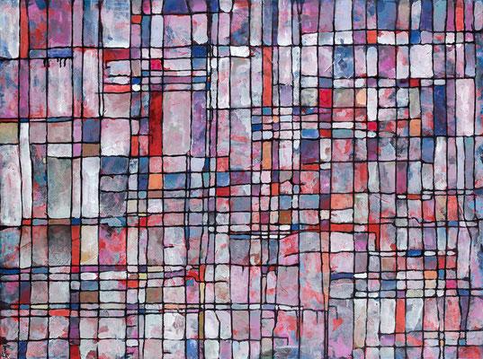 Parcelle 4  2009 Acrylique sur toile 97 x 130