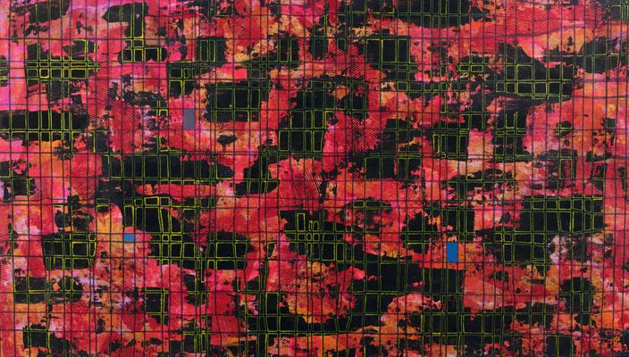 Carte magnétique 2008 Acrylique sur toile 110 x 197cm