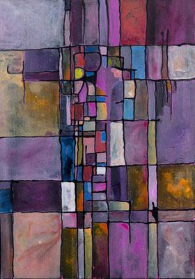 Champs de violettes 2010 Acrylique sur toile 116 x 89cm