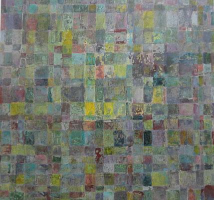 Carrelé 2011 Acrylique sur toile  160 x 150cm